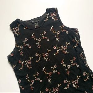 Lane Bryant• floral black sleeveless top